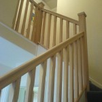 Staircase spindles and handrail