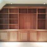 Built in oak bookcase